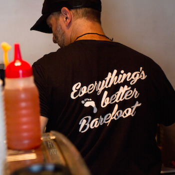 Everythings better barefoot t-shirt